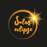 Иллюстрация солнечного затмения Стоковые Фотографии RF