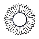 Иллюстрация солнцецвета doodle вектора Стоковые Изображения RF