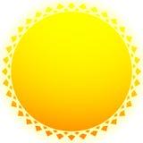 Иллюстрация Солнця, зажим-искусство солнца для природы, солнечного света, лета conc иллюстрация вектора