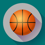 Иллюстрация спорта значка баскетбола вектора плоская Стоковое Изображение RF