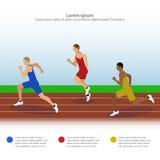 Иллюстрация спринтеров на идущем следе Стоковые Фото