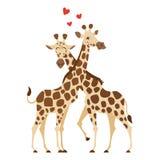 Иллюстрация стиля шаржа 2 жирафов бесплатная иллюстрация