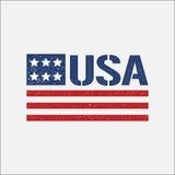 Иллюстрация стиля Grunge флага логотипа США Стоковое фото RF
