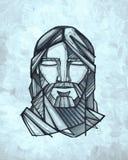 Иллюстрация стороны Иисуса Христоса Стоковое Изображение RF
