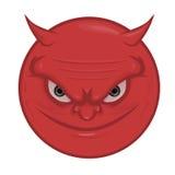 иллюстрация стороны дьявола демона изолировала вектор портрета s Стоковое Изображение RF