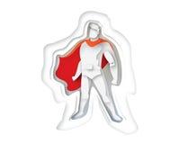 Иллюстрация стоящего супергероя, значка силы дела Стоковые Фото