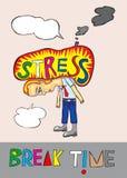 Иллюстрация стресса Стоковое Изображение RF