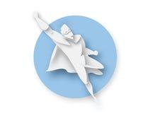Иллюстрация супергероя летания, значка силы дела Стоковые Изображения RF