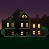 Иллюстрация сцены вечера Стоковые Изображения RF
