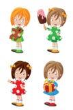 Счастливый комплект девушки Стоковые Изображения RF