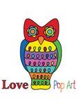Иллюстрация сыча искусства шипучки Стоковая Фотография RF