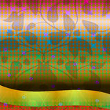 Иллюстрация предпосылки с листьями Стоковые Фото