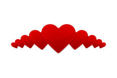 Иллюстрация с красным сердцем валентинки Стоковая Фотография RF