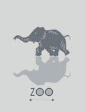 Иллюстрация слона Стоковые Изображения