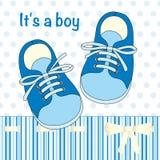 Иллюстрация с парами нарисованными рукой ботинок детей Стоковое фото RF