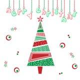 Иллюстрация с Рождеством Христовым рождественской елки Стоковое фото RF