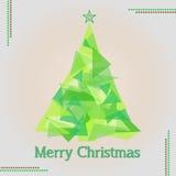 Иллюстрация с Рождеством Христовым рождественской елки Стоковые Фото