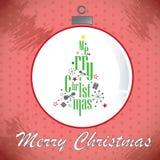 Иллюстрация с Рождеством Христовым рождественской елки Стоковое Изображение RF