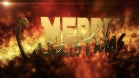 Иллюстрация: С Рождеством Христовым текст дизайна Стоковые Фото