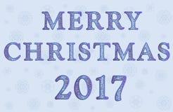 Иллюстрация с Рождеством Христовым 2017 Иллюстрация вектора