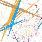 Иллюстрация случайного multicolor конспекта элемента геометрическая иллюстрация вектора