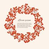 Иллюстрация с ягодой рябины ветвей Стоковая Фотография