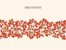 Иллюстрация с ягодой рябины ветвей Стоковые Фото