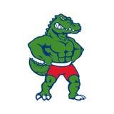 Иллюстрация талисмана крокодила Стоковая Фотография RF