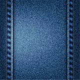 Иллюстрация текстуры голубых джинсов вектора Стоковое Изображение RF