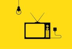 Иллюстрация телевидения Стоковое Изображение