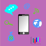 Иллюстрация телефона Стоковое Изображение RF