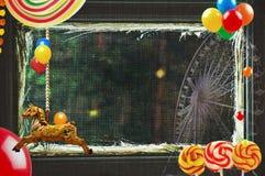 Carousel с памятями стоковые изображения