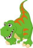 Иллюстрация тиранозавра шаржа счастливая Стоковая Фотография