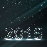 Иллюстрация торжества Нового Года Стоковая Фотография