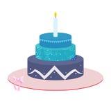 Иллюстрация торта 3 ярусов Стоковое Изображение