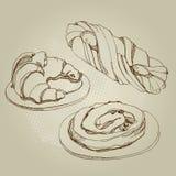 Иллюстрация тортов, крен вектора стоковая фотография rf
