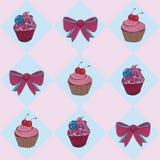 Иллюстрация - торт чашки Стоковые Фотографии RF