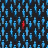 Иллюстрация толпы людей картина безшовная Стоковое Изображение RF