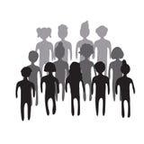 Иллюстрация толпы людей Стоковое Изображение