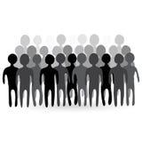 Иллюстрация толпы людей Стоковая Фотография RF