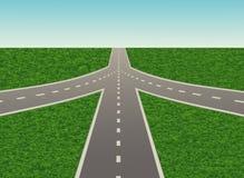 Иллюстрация транспортной развязки на шоссе Иллюстрация вектора
