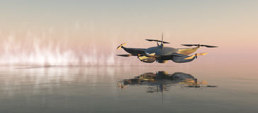 иллюстрация трутня летания Стоковые Фотографии RF