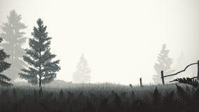 Иллюстрация тумана утра Стоковые Фотографии RF