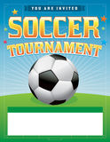 Иллюстрация турнира футбола футбола Стоковые Изображения
