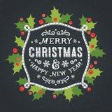 иллюстрация украшений рождества карточки предпосылки Стоковые Фотографии RF