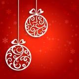иллюстрация украшения рождества шариков предпосылки Стоковая Фотография