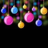 иллюстрация украшения рождества шариков предпосылки Стоковое Фото