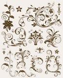 иллюстрация украшения собрания флористическая орнаментирует вектор Стоковое Изображение