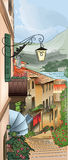 Иллюстрация улицы города Стоковое Фото