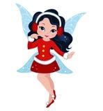 Иллюстрация феи рождества зимы Стоковое фото RF